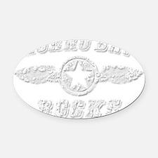 MORRO BAY ROCKS Oval Car Magnet