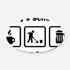 Janitor-ABI1 Oval Car Magnet