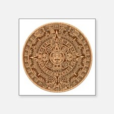 "Mayan Calendar 2012 End of  Square Sticker 3"" x 3"""