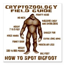 """how to spot bigfoot Square Car Magnet 3"""" x 3"""""""