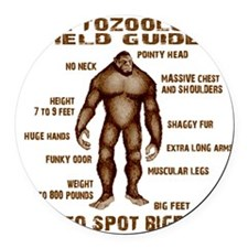 how to spot bigfoot Round Car Magnet