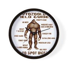 how to spot bigfoot Wall Clock