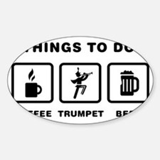 Marching-Band---Trumpet-ABH1 Sticker (Oval)