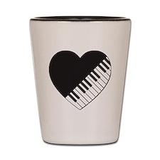 Piano Heart Shot Glass
