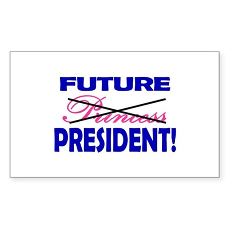 Future President Rectangle Sticker