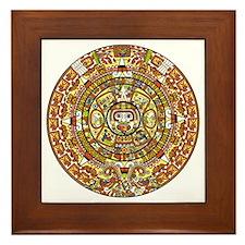 mayan calendar 2012 end of the world p Framed Tile