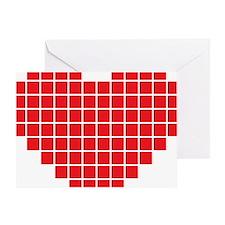 Pixel Heart Greeting Card