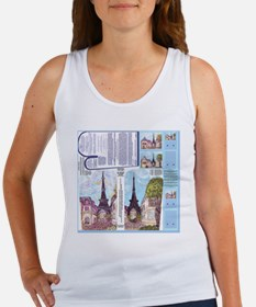 Paris Eiffel Tower Las Vegas insp Women's Tank Top