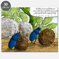 dung beetles cartoon Puzzle