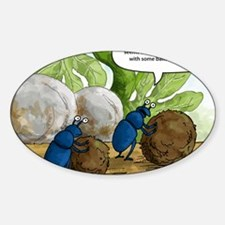 dung beetles cartoon Decal