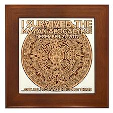 funny mayan apocalypse 2012 survivor Framed Tile