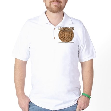 funny mayan apocalypse 2012 survivor Golf Shirt