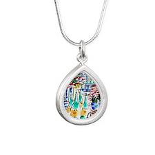 2044_Paris Champagne 4.9 Silver Teardrop Necklace