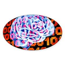 Digital brain Decal