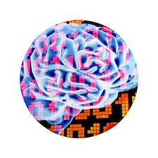 "Digital brain 3.5"" Button"
