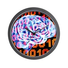 Digital brain Wall Clock