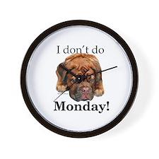 Dogue Monday Wall Clock