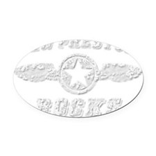 NEW PRESTON ROCKS Oval Car Magnet