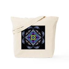 Dark Leather Fractals Tote Bag