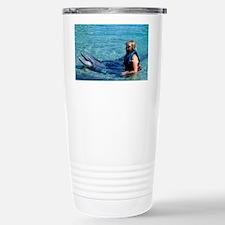 Dolphin education Stainless Steel Travel Mug