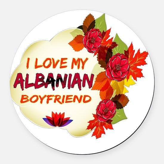 Albanian Boyfriend designs Round Car Magnet