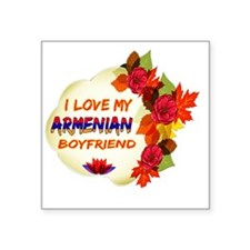 "Armenian Boyfriend designs Square Sticker 3"" x 3"""