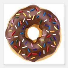 "Doughnut Lovers Square Car Magnet 3"" x 3"""