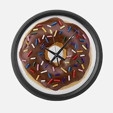 Doughnut Lovers Large Wall Clock