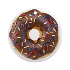 Doughnut Lovers Round Ornament