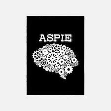 Aspie Brain Autism 5'x7'Area Rug