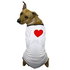 I Love Mustache Dog T-Shirt
