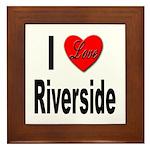I Love Riverside Framed Tile