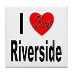 I Love Riverside Tile Coaster