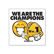 voiture - Sortir de la voiture sans danger We_are_the_champions_square_sticker_3_x_3
