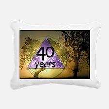 40 Year Birthday - One D Rectangular Canvas Pillow