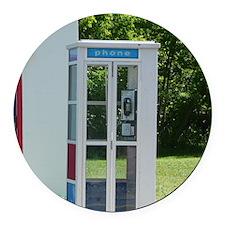 Pay Phone Round Car Magnet