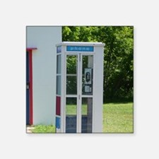 """Pay Phone Square Sticker 3"""" x 3"""""""