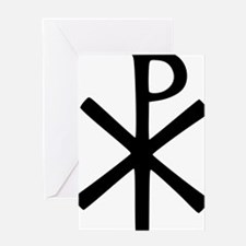 Chi Rho (XP Christogram) Greeting Card