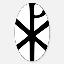 Chi Rho (XP Christogram) Sticker (Oval)