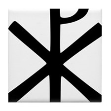 Chi Rho (XP Christogram) Tile Coaster