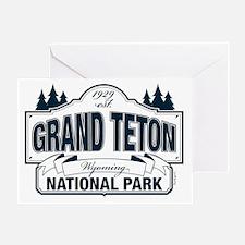 Grand Teton Blue Sign Greeting Card
