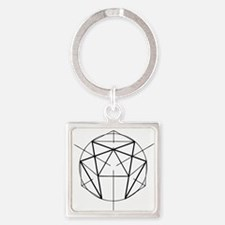 Enneagram Square Keychain