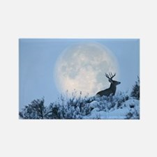 Mule deer moon Rectangle Magnet