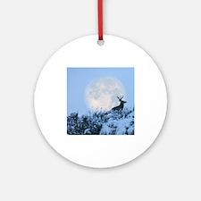 Mule deer moon Round Ornament