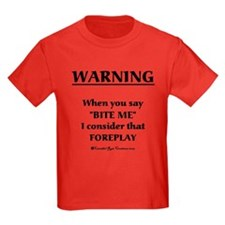 Biting Foreplay Kids Dark 2 T-Shirt