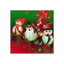 "Snow Men, Snow Women Square Sticker 3"" x 3"""
