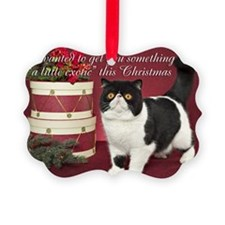 Exotic Shorthair Cat Christmas Ca Ornament