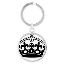 Keep Calm Supermom Round Keychain