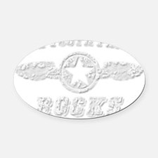 THE TOOTH FAIRY ROCKS Oval Car Magnet