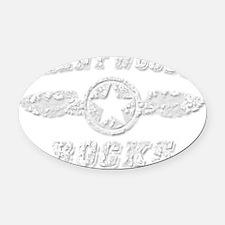 TRENT WOODS ROCKS Oval Car Magnet